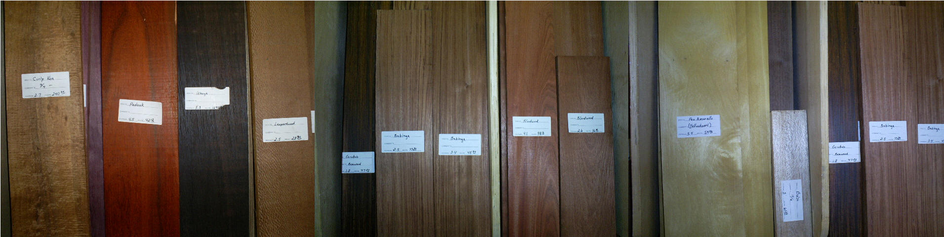... 15 varieties of exotic lumber click the picture to see larger image